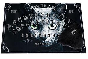 Clasic Wooden Cat Ouija Spirit Board adult game & Planchette. Spirit hunt