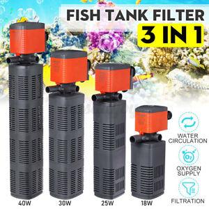 3 in1 Aquarium Water Pump 800-2500LPH Submersible Fish Tank Pond Filte j* nb CN