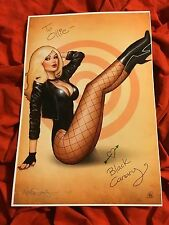 BLACK CANARY~DINAH LANCE~FISHNET LEGS~PIN UP GIRL~ART PRINT~SIGNED NATHAN SZERDY