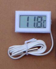 thermomètre numérique à sonde pour congélateur/frigo -50 à +50°C , couleur blanc