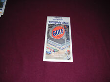 Vintage 1952 Gulf Oil Company Road Map of Ontario & Quebec Canada Rand McNally
