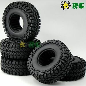 """5pcs RC 1/10 1.9"""" 115mm Crawler Tires Tyres Fit RC 4WD Axial 1.9in beadlock rims"""