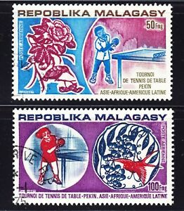Malagasy/ Madagascar Scott C124-25 complete set  F+ CTO. Free ship for any add..