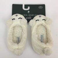 Laura Ashley Girls Lamb Slippers Size Small NWT!