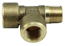 "Brass Tee Fitting 3/8"" Male x 3/8"" Female x 3/8"" BSP Female - 4350PSI - Tapered"