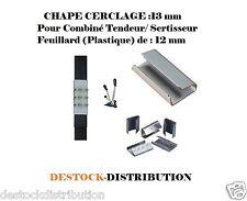 1000 CHAPE CERCLAGE 13 mm pour COMBINE TENDEUR SERTISSEUR FEUILLARD 12 mm