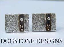 Diamond Rectangular Cufflinks for Men