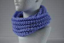 Hand knitted purple  kids snood,size 4-6 years,NEW