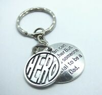 Hero Special Dad Keyring Gift for Christmas Birthday Quote Father Superman