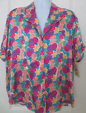 Beth Michaels Vintage Women's Pajamas Shell Print Large NWT