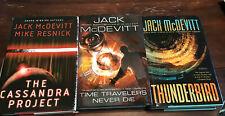 Lot of 5 Jack McDevitt Hc 1st Editions Thunderbird, Time Travelers Never Die