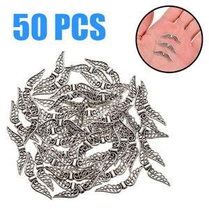 50PCS 32mm Tibetan Retro Silver Angel Wing Spacer Beads DIY Jewelry Pendant US