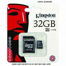 Kingston, 32 GB Micro SD, SDHC Memory Cards, 45MBs UHS-1 Class 10, With ADAPTOR