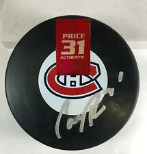 Carey Price - Autographed Puck - Montreal Canadiens Habs Signed COA - Price