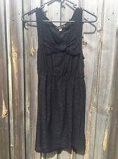 Women's Temt Branded Little Black Lace Dress Size S
