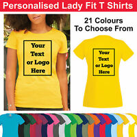 Custom Printed Woman's Lady Fitted T Shirt Personalised Ladies Tee Shirt Hen