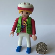 Playmobil 3068 Mom Lady Woman Vest Bicycle Helmet Grand Mansion Dollhouse Park