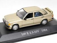 Mercedes-Benz W201 Gold 190 E 2.3-16V 1984 Year 1/43 Scale Collectible Model Car