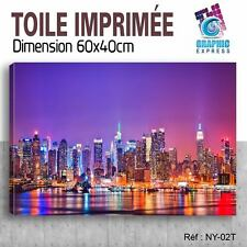 60x40cm - TOILE IMPRIMÉE - TABLEAU MODERNE DECORATION MURALE - NEW YORK - NY-02T
