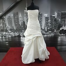 MAGGIE SORRETO Lace up Wedding DRESS with Train (Ivory-Size 12) RRP £1000+