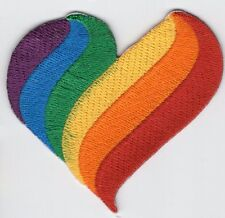 Rainbow Heart Patch LGBT Pride Embroidered Iron On Applique
