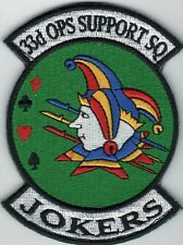 33 OPERATIONS SUPPORT SQUADRON F-35 ERA AIR FORCE SQUADRON PATCH