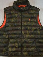 Polo Ralph Lauren Puffer Packable Down Vest Army Olive Camo S Small NWT