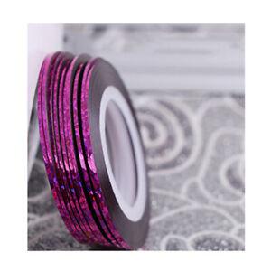 2PCS Mixed Colors Rolls Striping Tape Line DIY Nail Art Tips Decoration Sticker