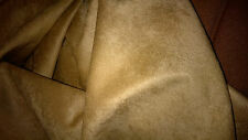 top qualite !! tissu suedine daim velours col marron camel  100x120 cm