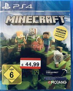 PS4 Spiel Minecraft Bedrock Neueste Version Enthält Starter-Paket  700 Token