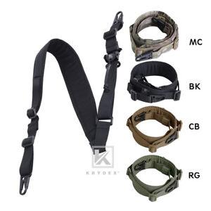 KRYDEX Modular Sling 2 / 1 Point Padded Tactical Slingster Shooting Sling Strap