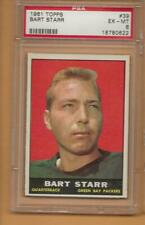 1961 Topps PSA  6, BART STARR, Green Bay Packers and Alabama