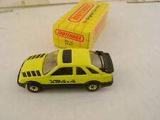 1983 MATCHBOX SUPERFAST #15 YELLOW FORD SIERRA XR4Ti XR4x4 NEW IN BOX
