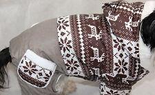 Hundejacke XS S M L Hund Hinterbeine Hundemantel Jumpsuit Overall braun Winter
