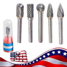 "1/4"" Cylindrical Cut Tungsten Carbide Bur Cutting Tool Ball Die Grinder Bit 5PCS"