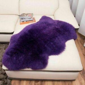 Genuine Sheepskin Fur Area Rug Fluffy Living Room Hairy Carpet 100% Natural Warm