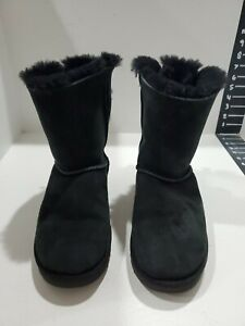 Ugg womens black suede boots size 8 M