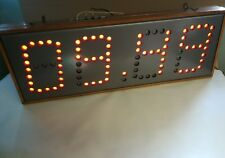 Nixie watch Vintage large wall  secondary nixie clock