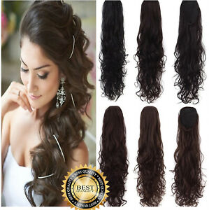 Clip In Wrap Around Hair As Human Extension Ponytail Lady Soft Traceless hair UK