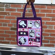 Women's Purple and Pink Hello Kitty Y2K Early 2000's Vibe Rectangle Tote Bag