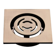Mondella RESONANCE SQUARE REVOLUTION FLOOR GRATE Brushed Brass - 80mm Or 100mm