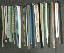 38 Mixed Belt Lot Adjustable Loop Fabric/Canvas Styled Belts Lot of 38 Belts