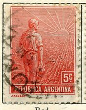 ARGENTINA;  1911 early definitive issue fine used value 5c.