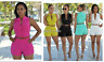 Women's Bodycon Playsuit Jumpsuit Casual Party  Romper Clubwear Short Trousers