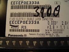 500x 0,033 F 33000µf 2,6 V Double Couche Condensateur Gold Cap SMD Panasonic