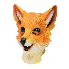 Hommes Masque Caoutchouc Fantastique Mr Fox Animal Déguisement Fantaisie Robe