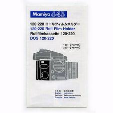 Mamiya 645 120-220 roll film holder