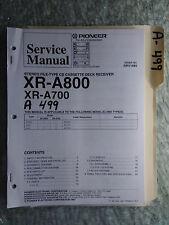 Pioneer xr-a800 a700 service manual original repair book stereo cd player