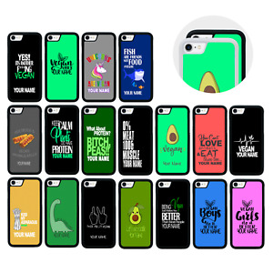 Case Personalised Custom Name Cover for iPhone 5 5s SE 6 6s 7 PLUS / VEGAN