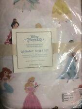 POTTERY BARN KIDS Disney Princess QUEEN 4 pc Sheets Set - NEW
